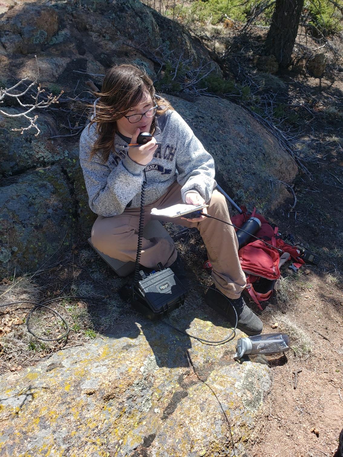K0UOG activating Mount Herman (W0C/FR-063)